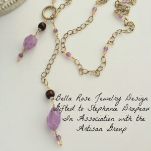 cape amethyst lariat necklace