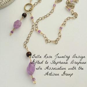 cape amethyst lariat necklace