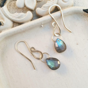 labradorite teardrop dangle earrings