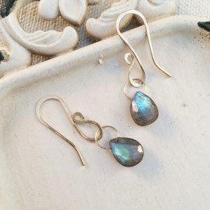 labradorite teardrop dangle earrings