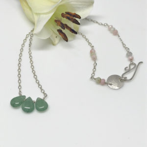 green adventurine gemstone necklace