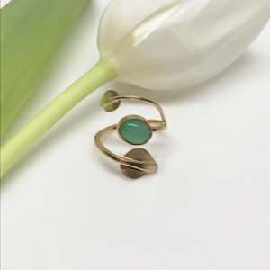 gold leaf vine ring
