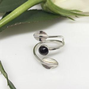 silver garnet wrap ring