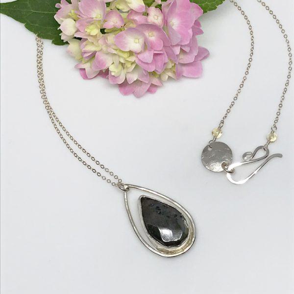 Labradorite and Silver Teardrop Pendant
