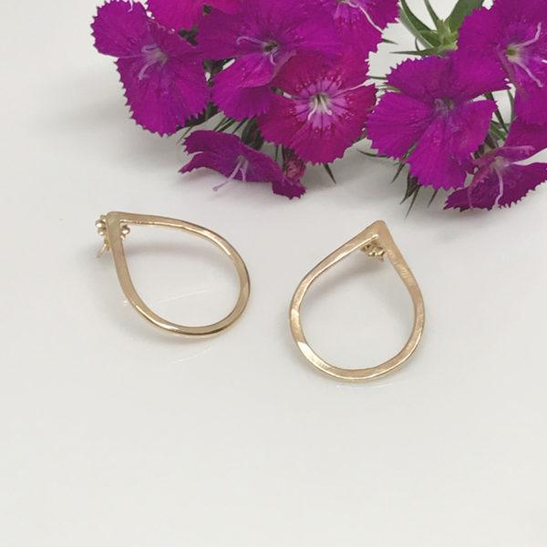 gold dewdrop post earrings