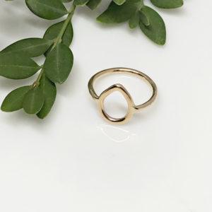 dainty gold dewdrop ring