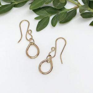 petite dewdrop dangle earrings