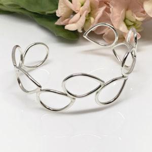 silver dewdrop cuff bracelet