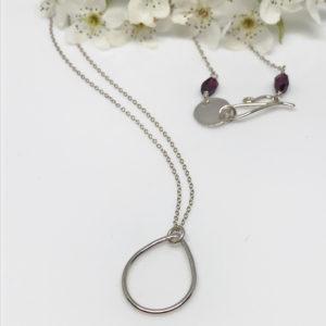 silver dewdrop pendant necklace