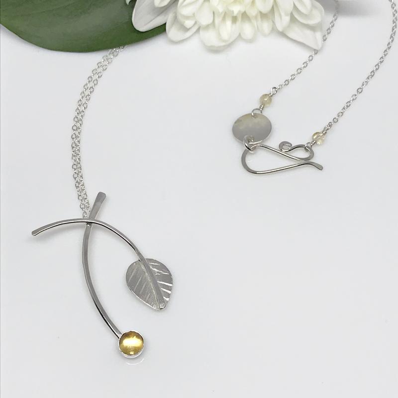 citrine-silver-leaf-pendant