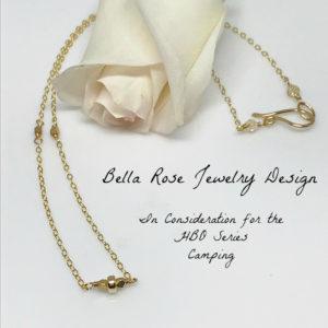 dainty gold bead neckace
