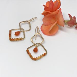 carnelian briolette dangle earrings