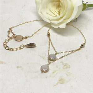 Double Moonstone Necklace