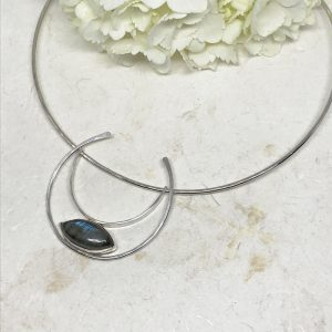 colorful labradorite choker necklace