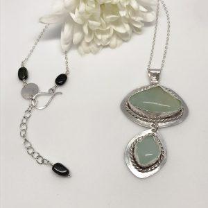 mint green fluorite necklace