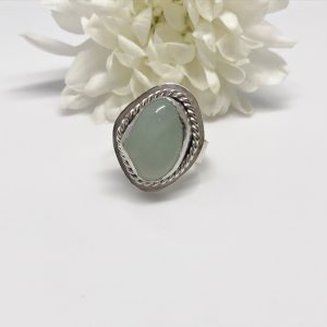 fluorite gemstone crystal ring