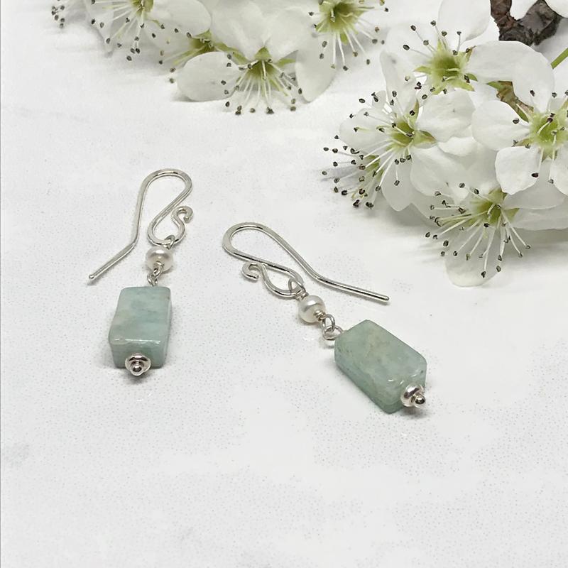 Amazonite-Dangle-Earrings 755