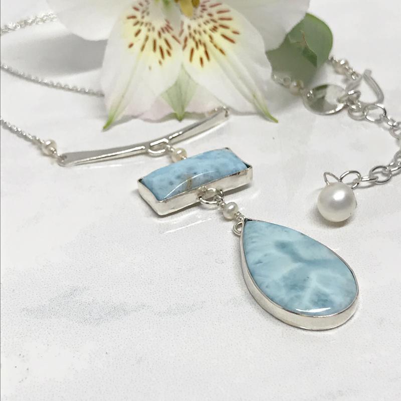 Larimar-Pendant-Necklace 782-3