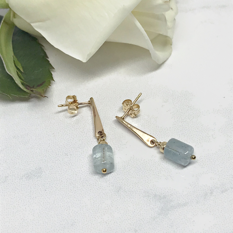 Aquamarine-Drop-Earrings 786-5