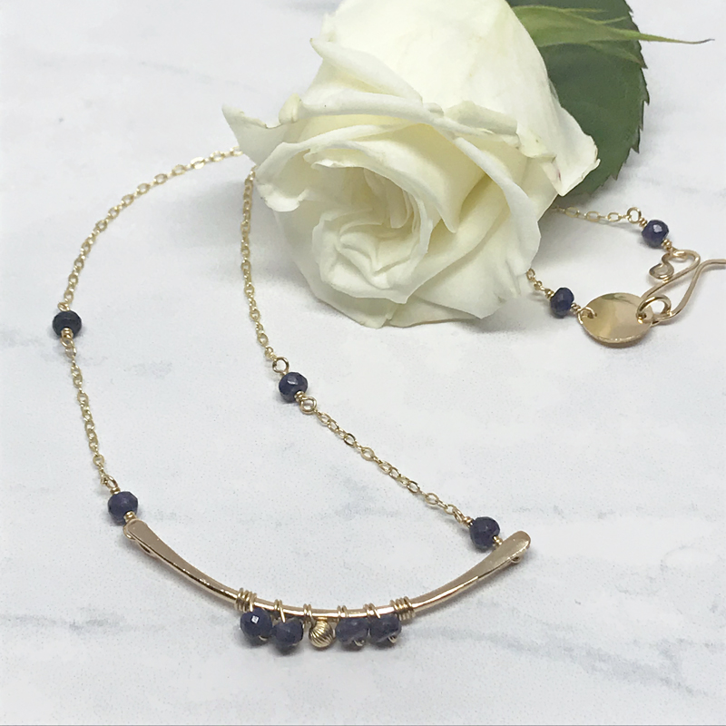 Sapphire-Beaded-Necklace 787-7
