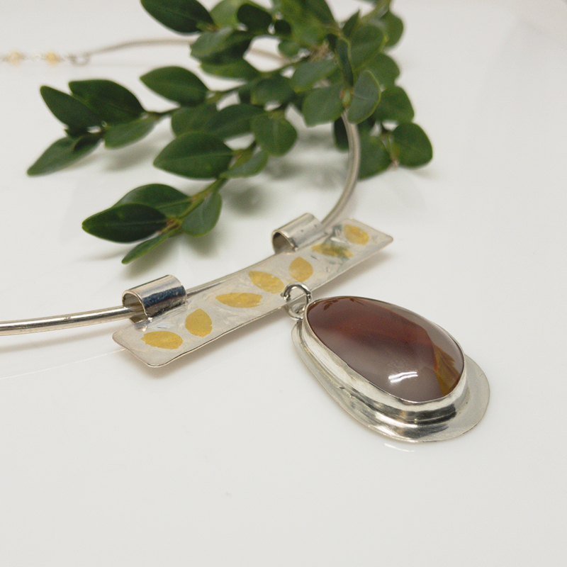 Carnelian-Collar-Necklace 798-5