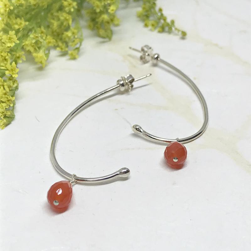 Carnelian-Half-Hoop-Earrings-827-3
