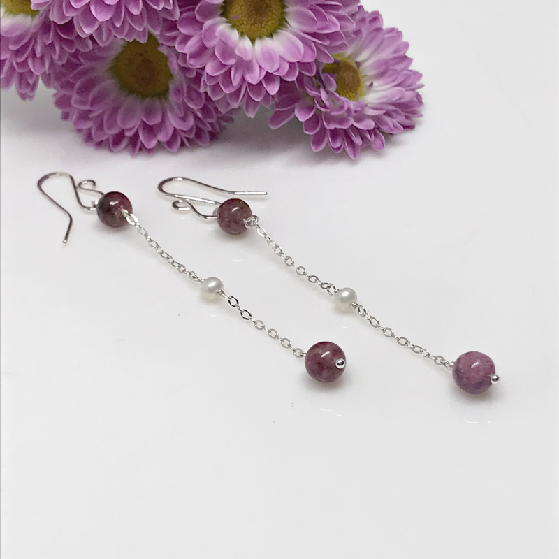 Tourmaline-Dangle Earrings-846-2