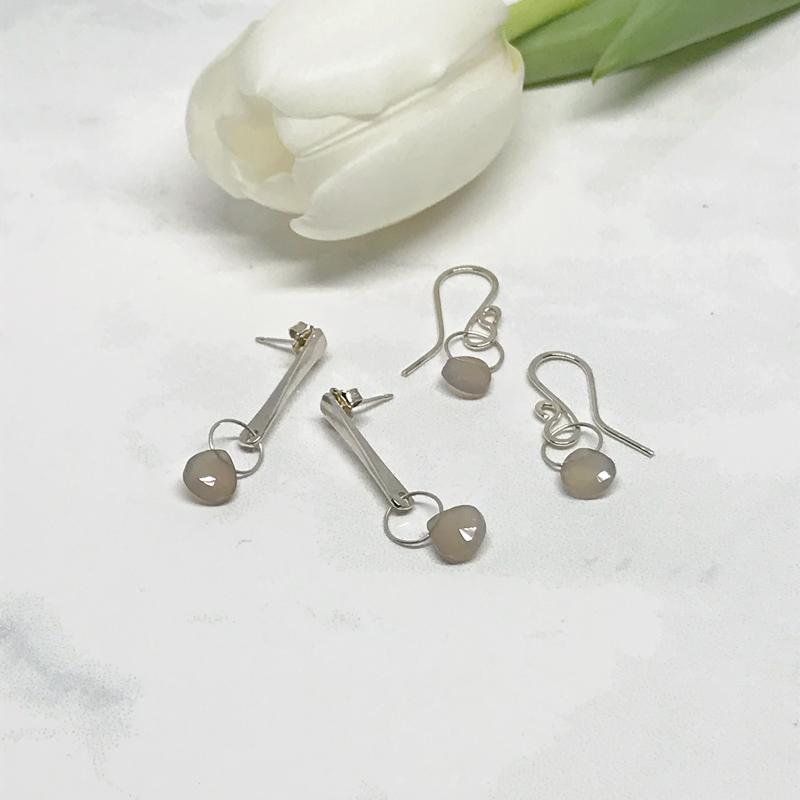 Chalcedony-Dangle-Earrings