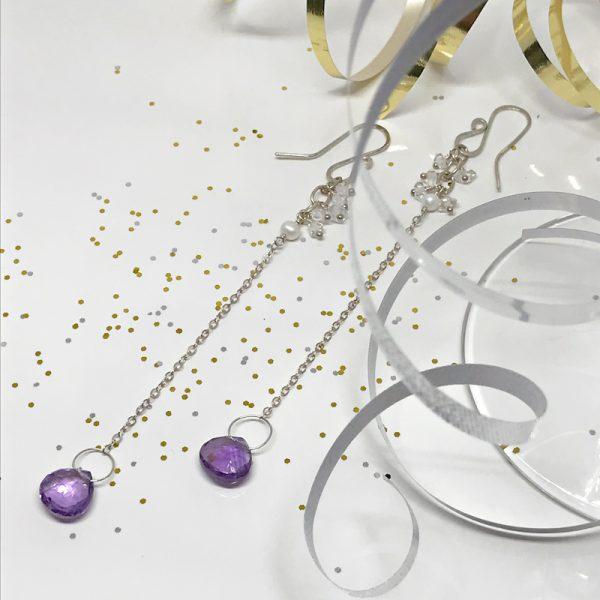 Amethyst-Duster-Earrings