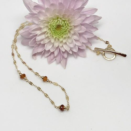 Hessonite Garnet and Gold Necklace-712 500 px