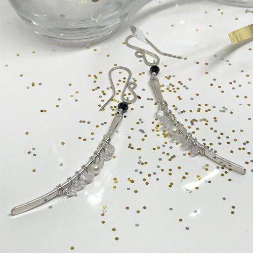 Silver-Dangle-Earrings