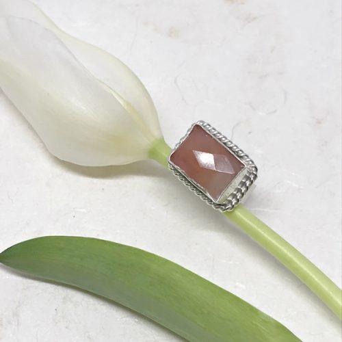 Sunstone Baguette Ring